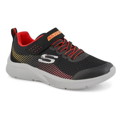 Boys' MICROSPEC black/ red sneakers
