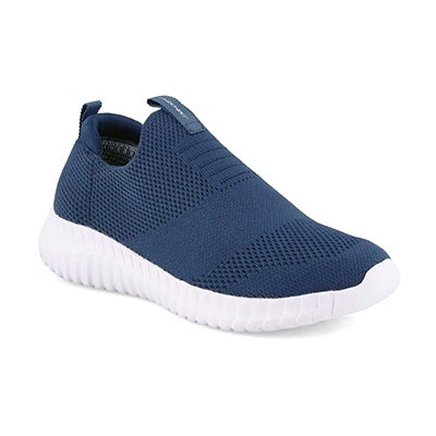 Boys' ELITE FLEX navy slip on walking shoes