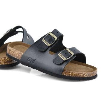 Sandales mousse mémoire ALBERTA 6, noir, enfants