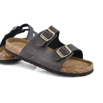 Sandales mousse mémoire ALBERTA 6, brun, enfants