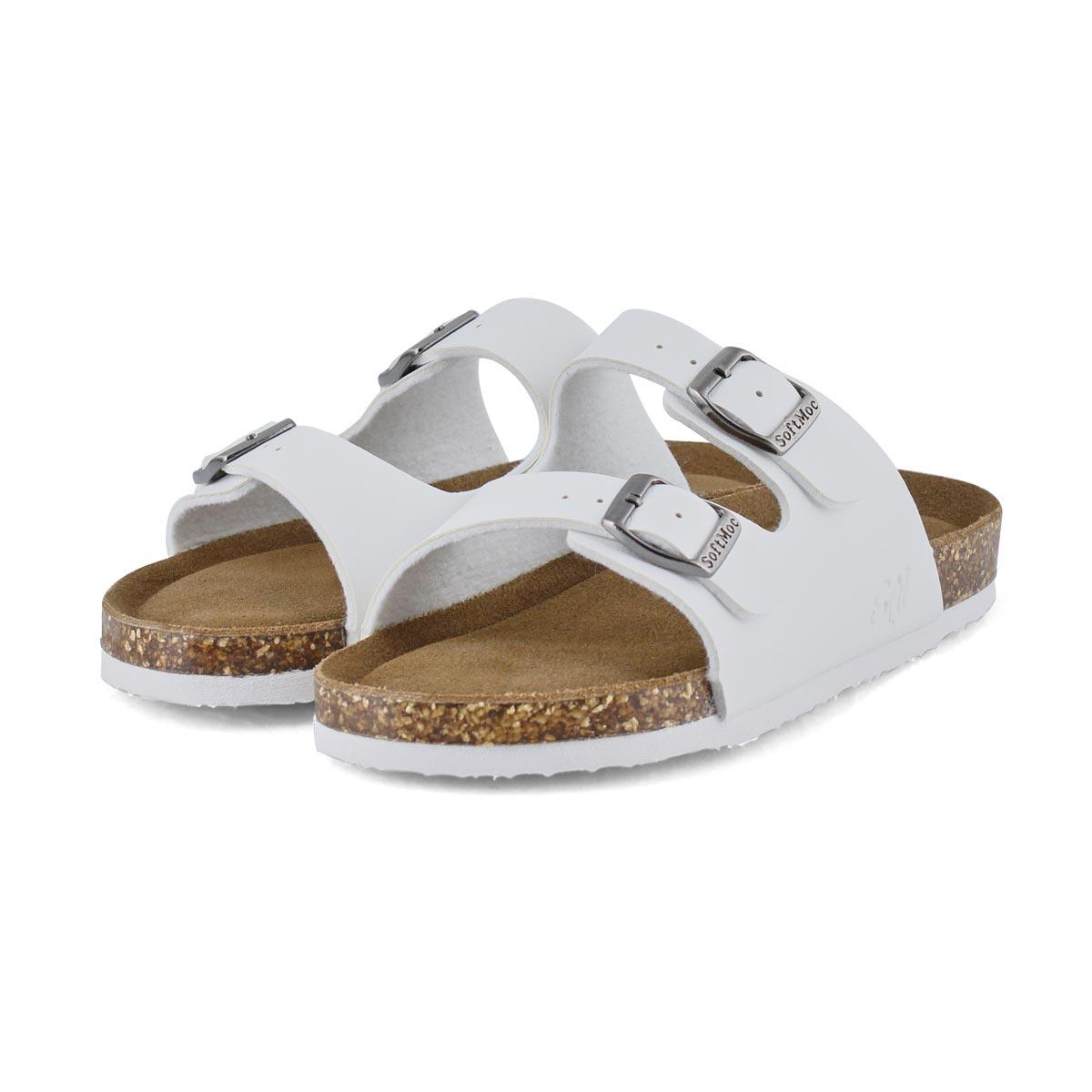 Sandales mousse mémoire ALBERTA 6, blanc, enfants