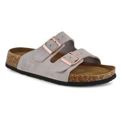 Women's ANNA 5 grey suede memory foam sandals