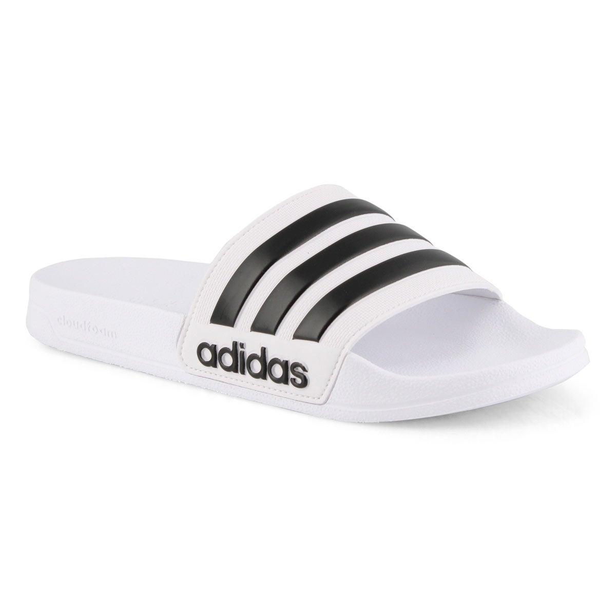 Men's CF Adilette Slide Sandal - Black/White