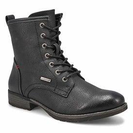 Lds Ashley blk vegan wtpf lace up boot