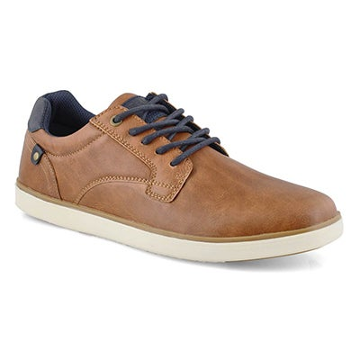 Men's BISHOP cognac lace up casual sneakers