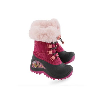 Infant BLAZE 2 fuchsia wtprf light up winter boot