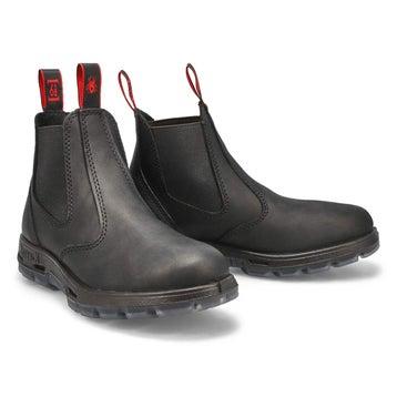 Unisex BOBCAT black leather pull on boots