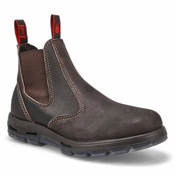 Unisex BOBCAT claret leather pull on boots
