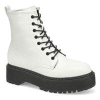 Women's Bolero Combat Boot - White