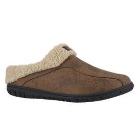 Mns Cameron brown open back slipper