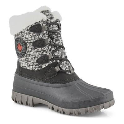 Lds Camp blk/wht waterproof winter boot