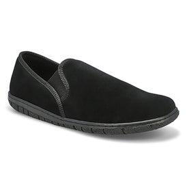 Mns Carlos black closed back slipper
