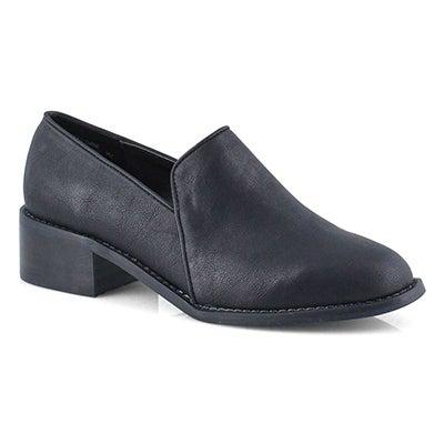 Lds Castelneau black vegan dress shoe