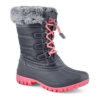 Grls Cece blk/melon wtpf winter boot