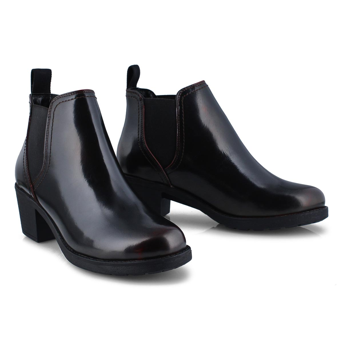 Women's CERSEI  burgundy chelsea boots