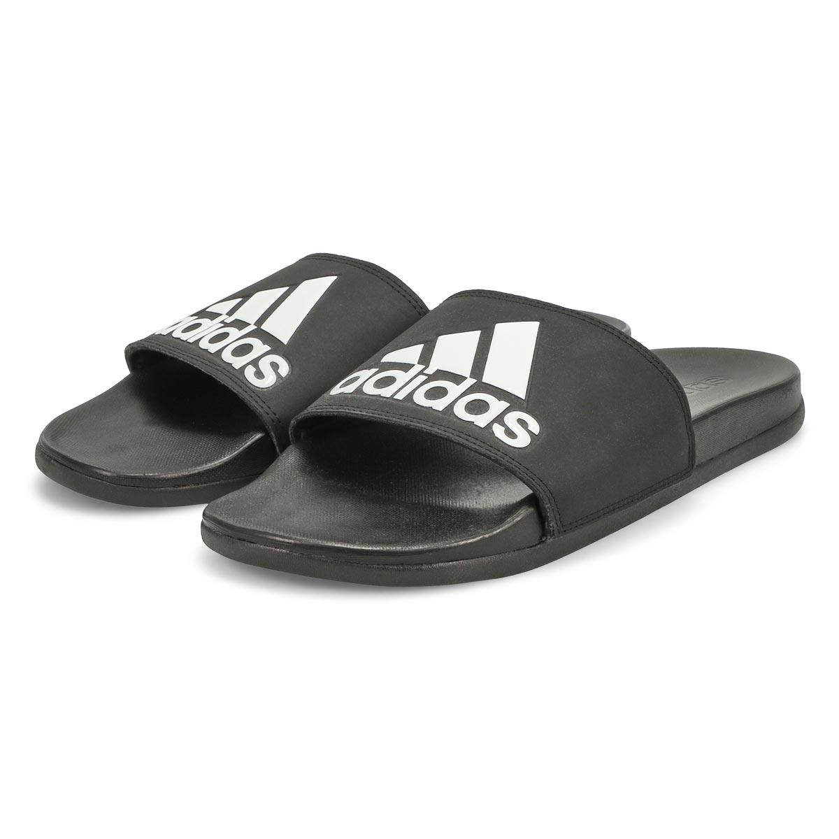 Men's Adilette CF+ Logo Slide Sandal - Black/White