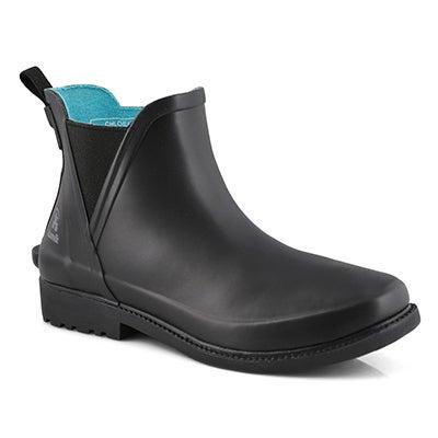 Women's CHLOE LO blk waterproof chelsea rain boots