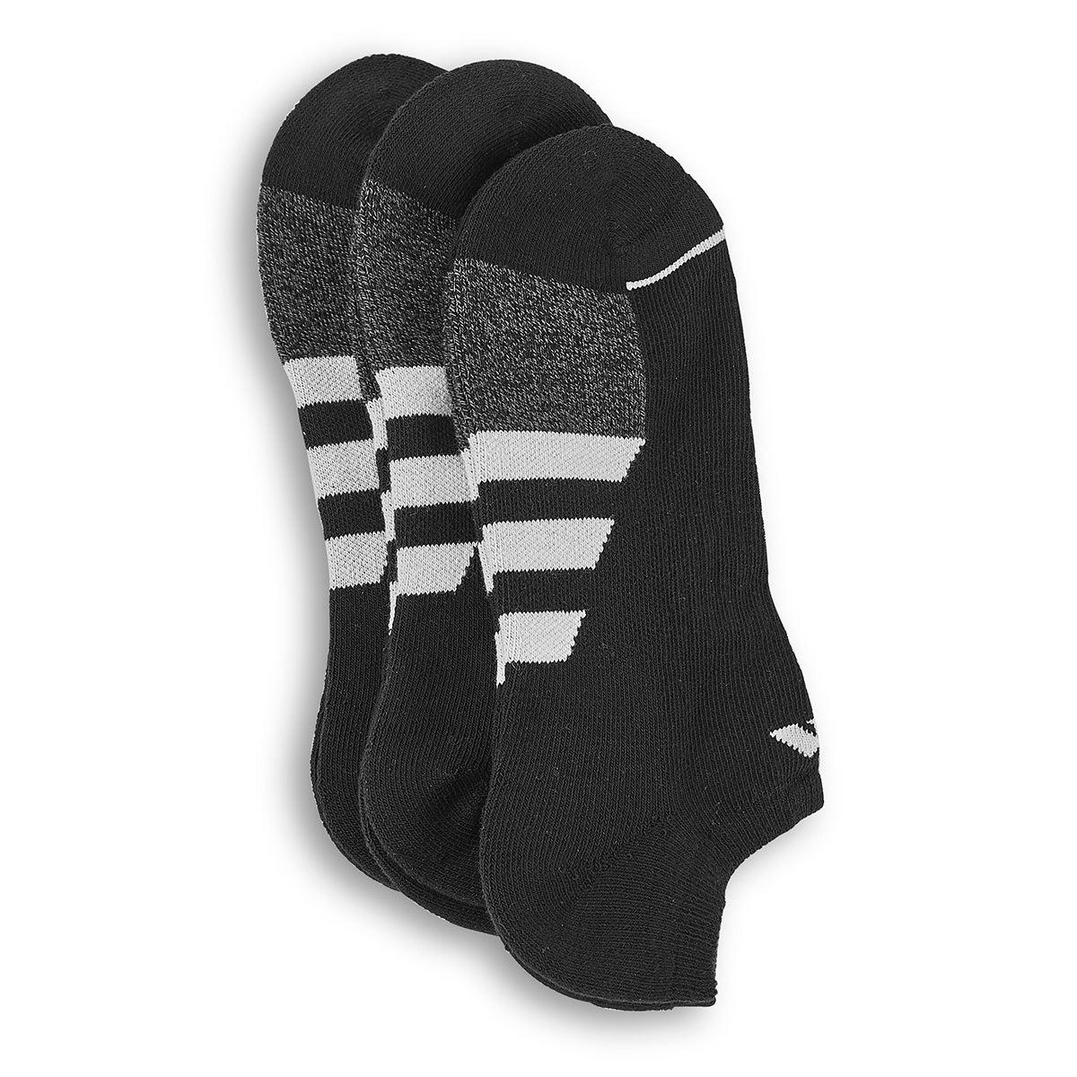 Men's CUSHIONED II black low cut socks -3pk