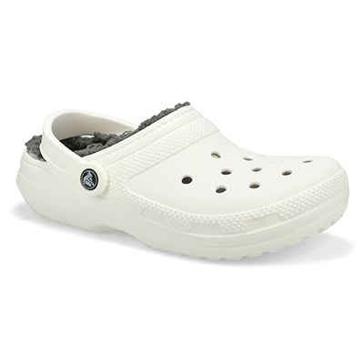Women's CLASSIC LINED  white comfort clogs