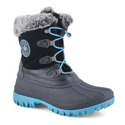 Grls Colette 2 black wtpf winter boot