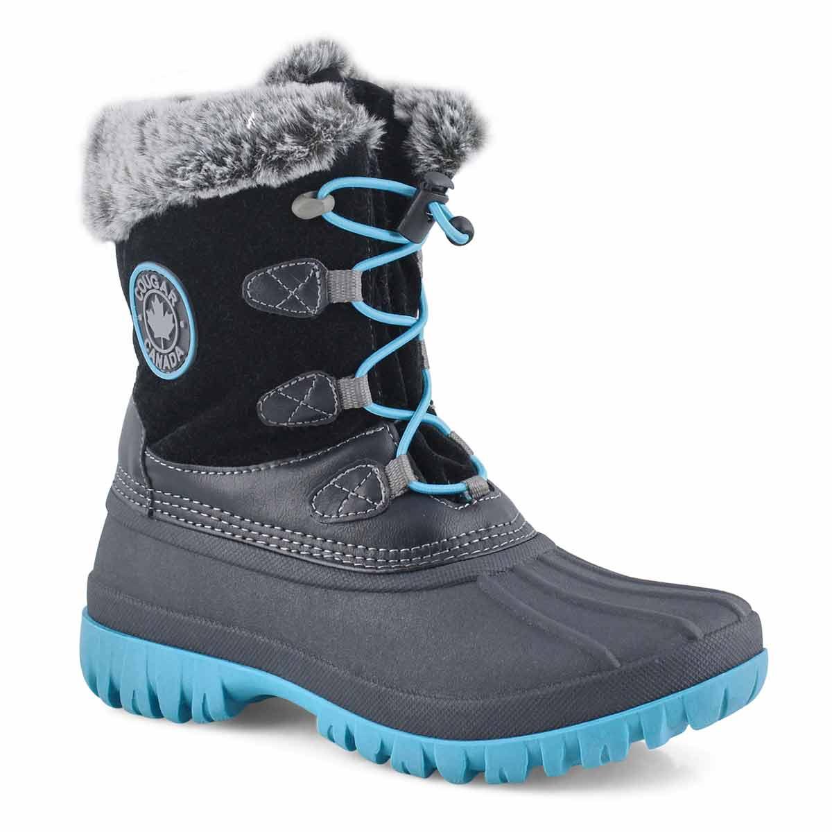 Girls' COLETTE 2 black waterproof winter boots