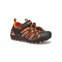 Infants' Crab Closed Toe Sandal - Black/Orange