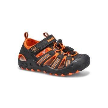 Infants' CRAB  black/orange closed toe sandals