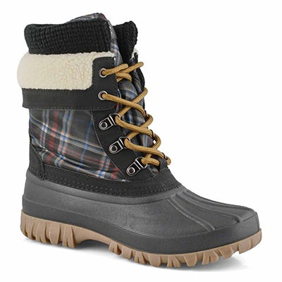 Lds Creek laceup blkpld wtpf winter boot