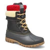 Women's CREEK lace up black wtpf winter boots