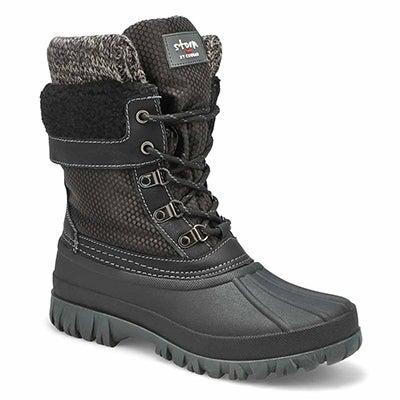 Women's CREEK lace up grey waterproof winter boots