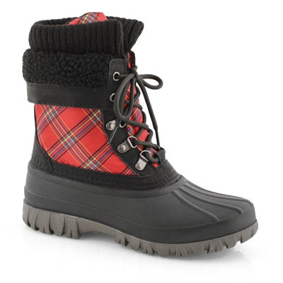 Lds Creek red bright pld wp winter boot