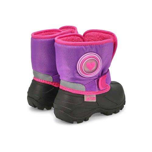 Inf-g Cub 2 purple pull on winter boot