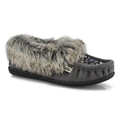 Lds Cute 5 V gy faux rabbit fur moccasin