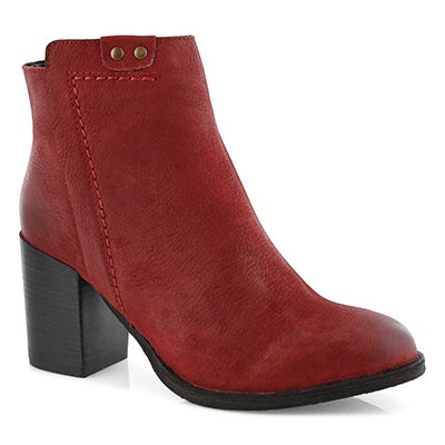 Lds Dacia red ankle bootie