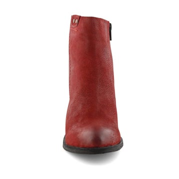 Women's DACIA red ankle booties
