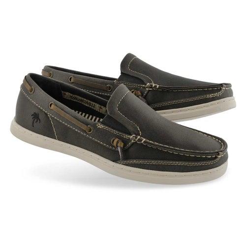 Mns Dock Denim black casual slip on