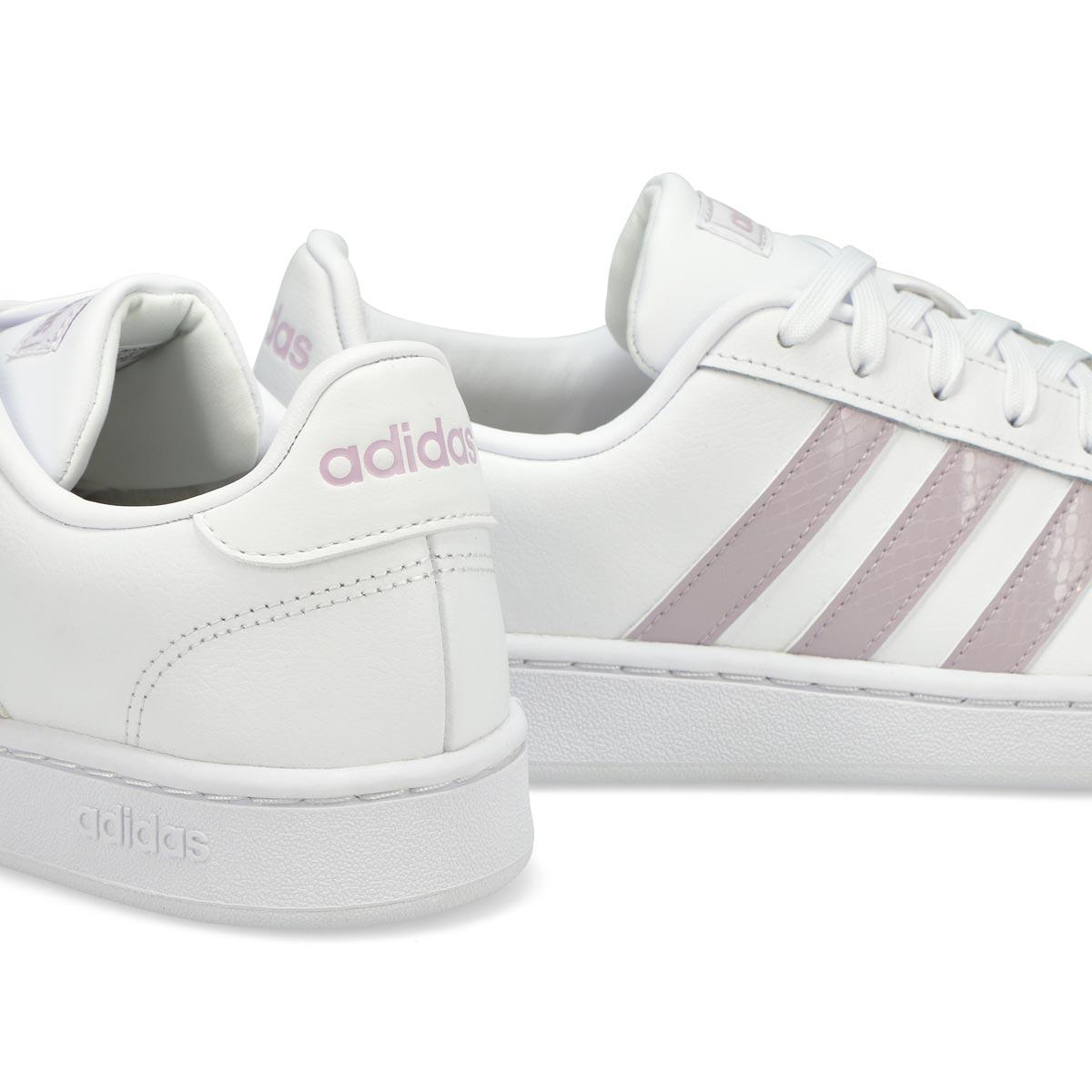 Women's Grand Court Sneaker - White/Mauve
