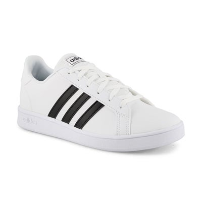 Kids' GRAND COURT white/black sneakers