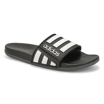 Men's ADILETTE COMFORT ADJ black/ white sandals