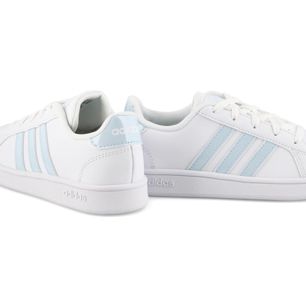 Girls' Grand Court K Sneaker - White/Sky
