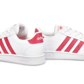 Girls' Grand Court Sneaker - White/Pink