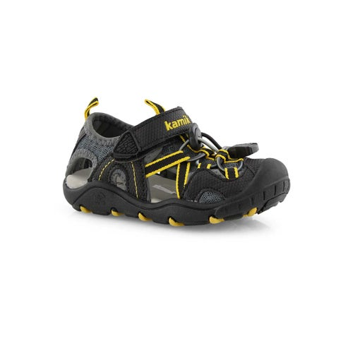Inf-b Electro blk/char fisherman sandal