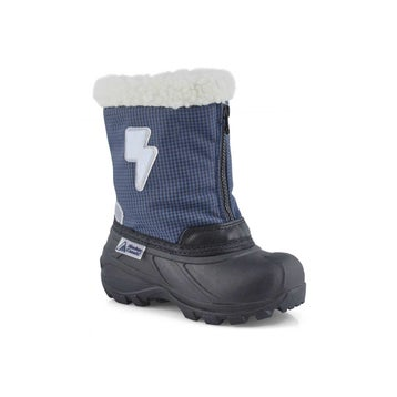 Infants' ELIAS navy pull on winter boots