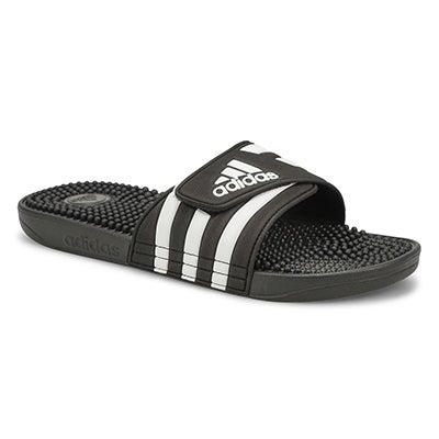 Mns Adissage Slide Sandal - Blk/Wht