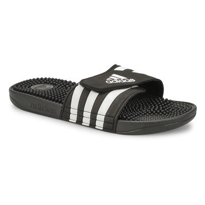 Kids' ADISSAGE K black adjustable slides