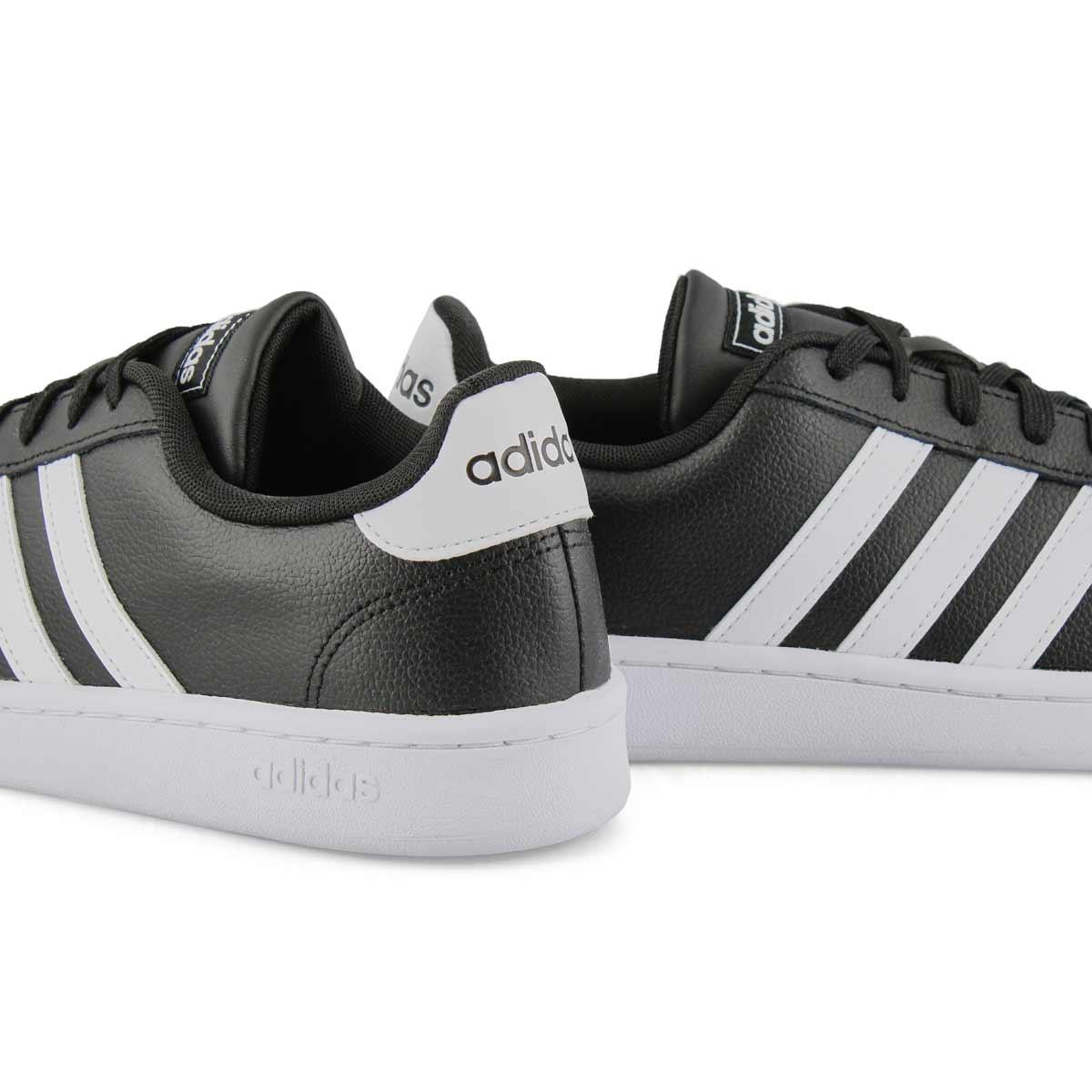 Men's Grand Court Sneaker - Black/White