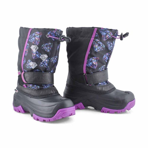 Grls Frosty 2 bk/fs wp lightup wntr boot