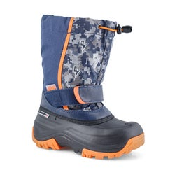 Bys Frosty navy/org wp lightup wntr boot