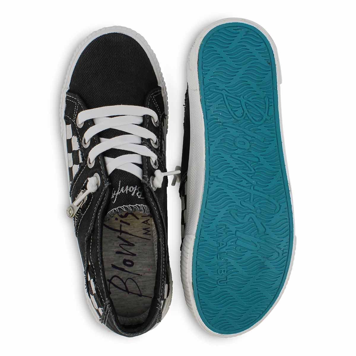 Women's FRUIT black lace up fashion sneakers