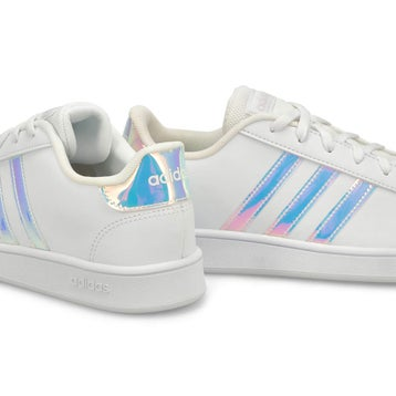 Kids' GRAND COURT white/blue sneakers